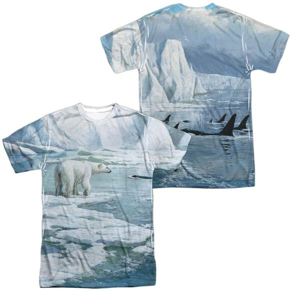 Wild Wings Glaciers Edge (Front Back Print) Short Sleeve Adult Poly Crew T-Shirt