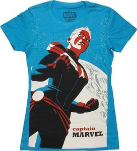 Captain Marvel 2 Cho Variant Cover Juniors T-Shirt