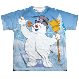 Frosty The Snowman Frosty Wave Short Sleeve Youth Poly Crew T-Shirt