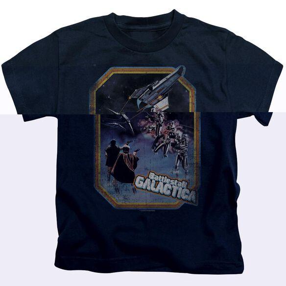 BSG POSTER IRON ON - S/S JUVENILE 18/1 - NAVY - T-Shirt