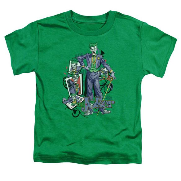 Batman Wild Cards Short Sleeve Toddler Tee Kelly Green T-Shirt