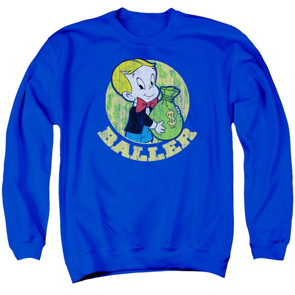 Richie Rich Baller Adult Crewneck Sweatshirt Royal