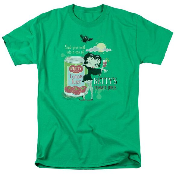 Betty Boop Vampire Tomato Juice Short Sleeve Adult Kelly T-Shirt
