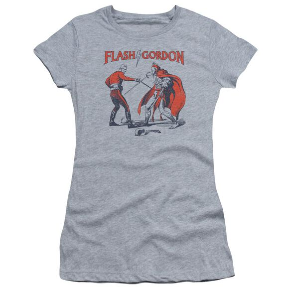 Flash Gordon Duel Short Sleeve Junior Sheer Athletic T-Shirt