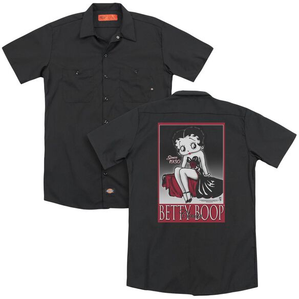 Betty Boop Classic (Back Print) Adult Work Shirt