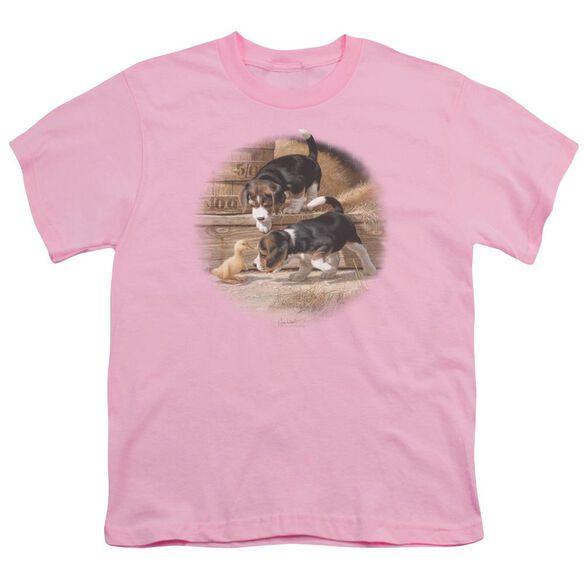 Wildlife Getting Acquainted Short Sleeve Youth T-Shirt