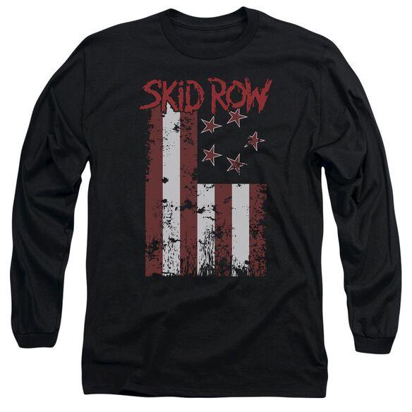 Skid Row Flagged Long Sleeve Adult T-Shirt