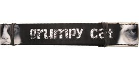 Grumpy Cat Distressed Name Mesh Belt