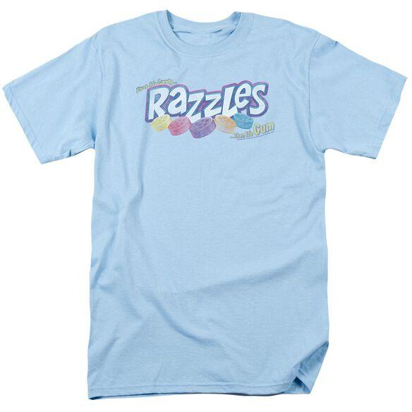 Dubble Bubble Distressed Logo Short Sleeve Adult Light Blue T-Shirt