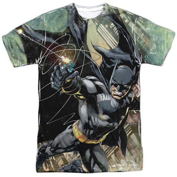 Batman Catch Short Sleeve Adult Poly Crew T-Shirt