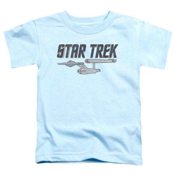 Star Trek Entreprise Logo Short Sleeve Toddler Tee Light Blue T-Shirt