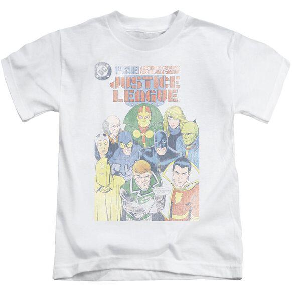 Jla Justice League #1 Cover Short Sleeve Juvenile White T-Shirt