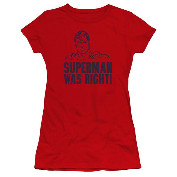 Superman Was Right Premium Bella Junior Sheer Jersey