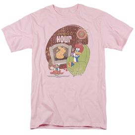 Woody Woodpecker Chocolate Hour Short Sleeve Adult Pink T-Shirt