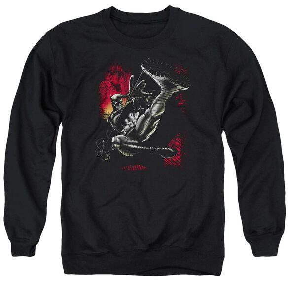 Batman Kick Swing Adult Crewneck Sweatshirt
