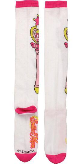 Sailor Moon Pink Moon Stick Ladies Knee High Socks