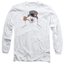 Frosty The Snowman Frosty Face Long Sleeve Adult T-Shirt