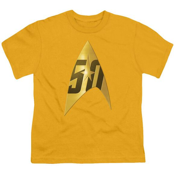 Star Trek 50 Th Anniversary Delta Short Sleeve Youth T-Shirt