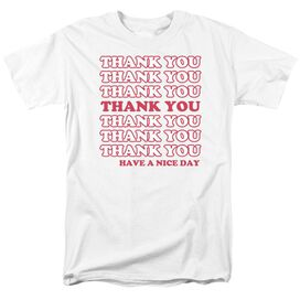 Thank You Short Sleeve Adult T-Shirt