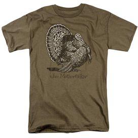Jive Turkey Short Sleeve Adult Safari Green T-Shirt