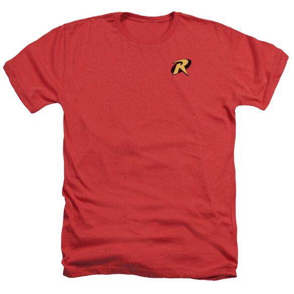 Batman Robin Logo - Adult Heather - Red