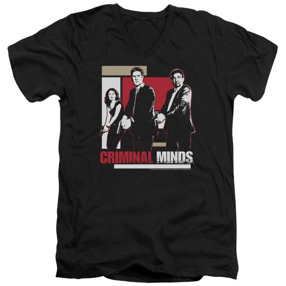 Criminal Minds Guns Drawn Short Sleeve Adult V Neck T-Shirt