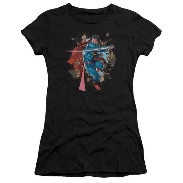 Superman Rock Breaker Premium Bella Junior Sheer Jersey