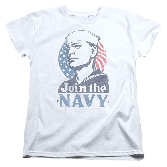 Navy Join Now Short Sleeve Womens Tee T-Shirt
