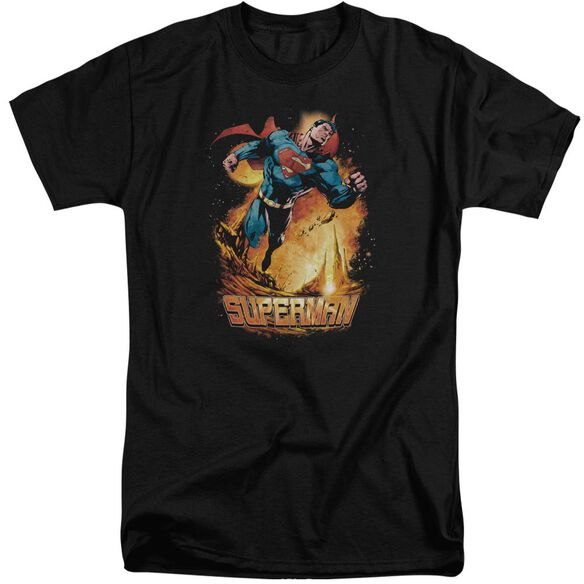 Superman Space Case Short Sleeve Adult Tall T-Shirt