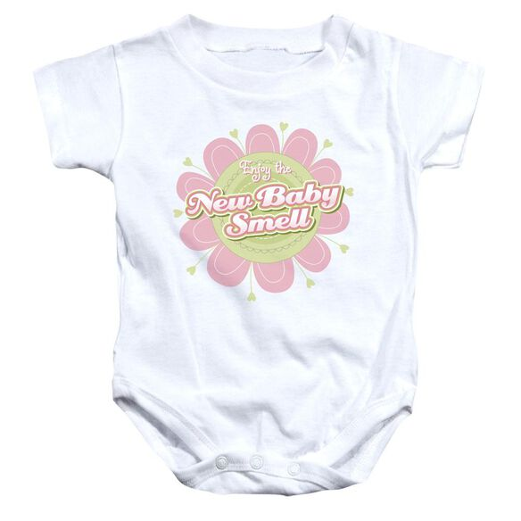 New Baby Smell Infant Snapsuit White Md