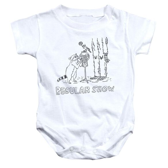 The Regular Show Tattoo Art Infant Snapsuit White