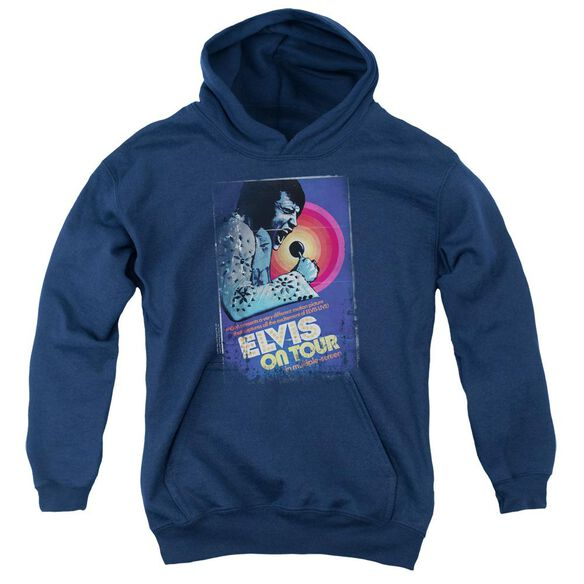 Elvis On Tour Poster Youth Pull Over Hoodie