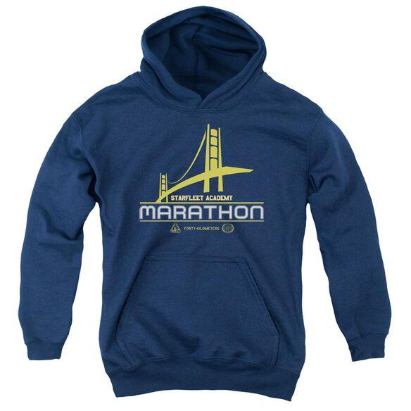 Star Trek Marathon Logo Youth Pull Over Hoodie