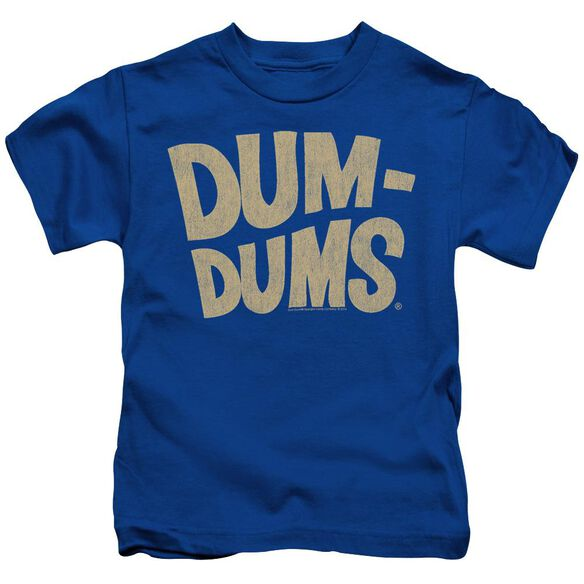 Dum Dums Distressed Logo Short Sleeve Juvenile Royal Blue Md T-Shirt