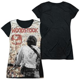 Woodstock Apart From The Crowd Short Sleeve Junior Poly Black Back T-Shirt