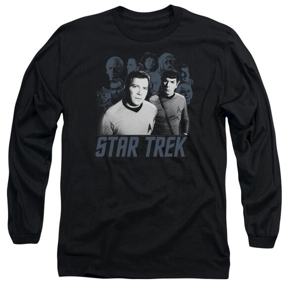 Star Trek Kirk Spock And Company Long Sleeve Adult T-Shirt