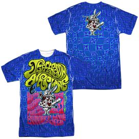 Jefferson Airplane Rabbit (Front Back Print) Short Sleeve Adult Poly Crew T-Shirt