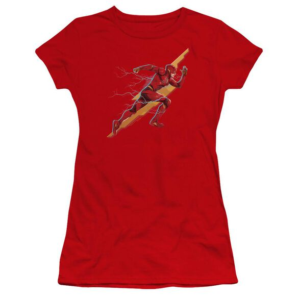 Justice League Movie Flash Forward Hbo Short Sleeve Junior Sheer T-Shirt