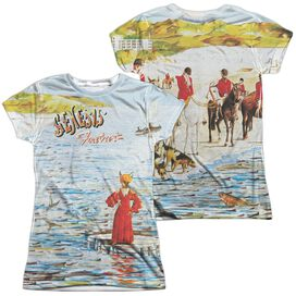 Genesis Foxtrot Cover (Front Back Print) Short Sleeve Junior Poly Crew T-Shirt