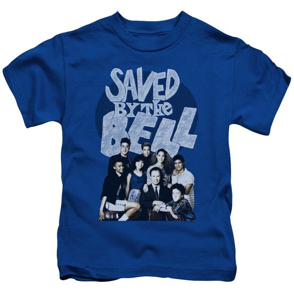 Saved By The Bell Retro Cast Short Sleeve Juvenile Royal Blue T-Shirt