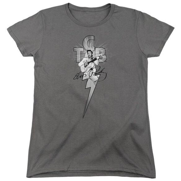 Elvis Presley Tcb Ornate Short Sleeve Womens Tee T-Shirt