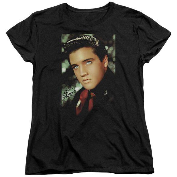 Elvis Presley Red Scarf Short Sleeve Womens Tee T-Shirt