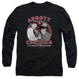 ABBOTT & COSTELLO BAD BOY - L/S ADULT 18/1 - BLACK T-Shirt
