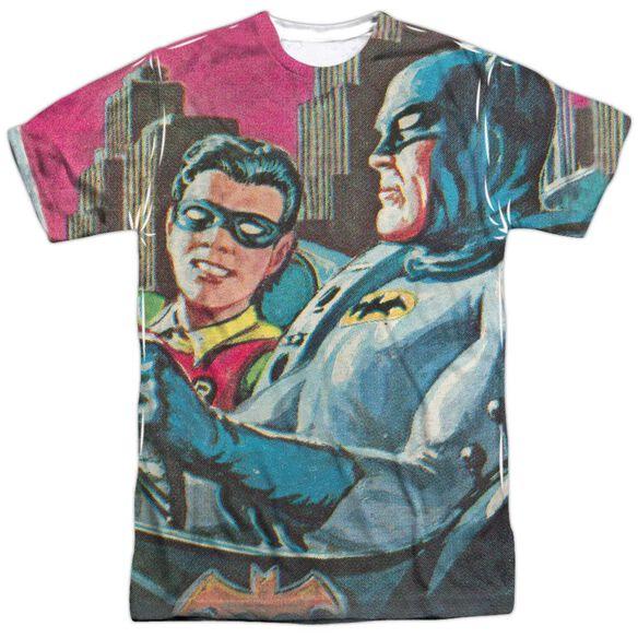 Batman Classic Tv Bat Signal Short Sleeve Adult Poly Crew T-Shirt