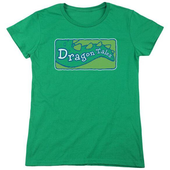 Dragon Tales Logo Clean Short Sleeve Womens Tee Kelly T-Shirt