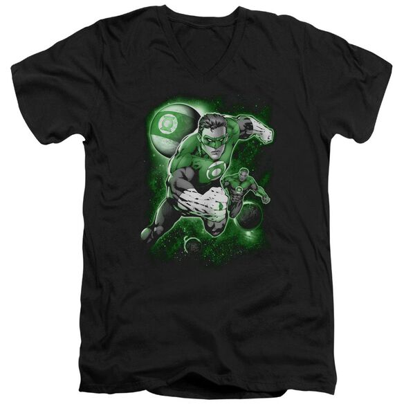 Green Lantern Lantern Planet Short Sleeve Adult V Neck T-Shirt