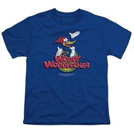 Woody Woodpecker Woody Short Sleeve Youth Royal T-Shirt