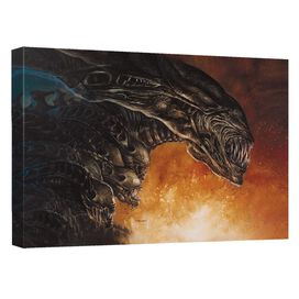 Alien Queen Comic Cover Canvas Wall Art With Back Board