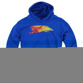 Dc Flash Fastest Man Alive-youth Pull-over Hoodie - Royal
