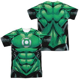 Green Lantern Uniform (Front Back Print) Short Sleeve Adult Poly Crew T-Shirt